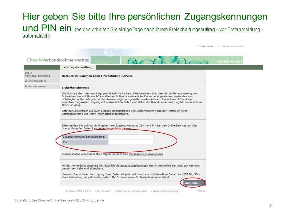 3 Vorstellung des Chemie-Online-Services / MDLOV-F/ U.