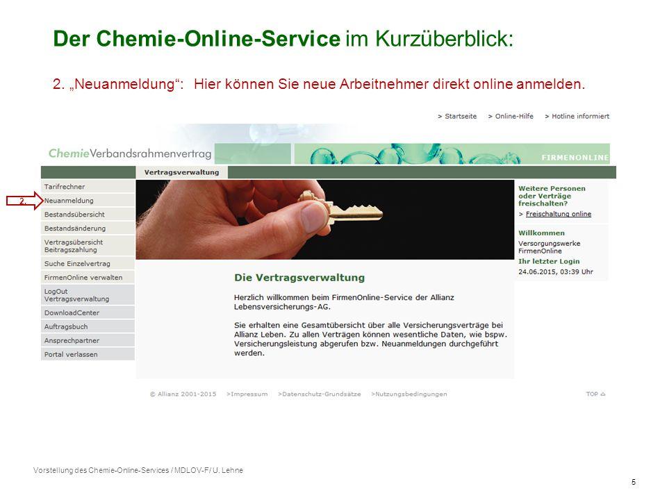 5 Vorstellung des Chemie-Online-Services / MDLOV-F/ U.