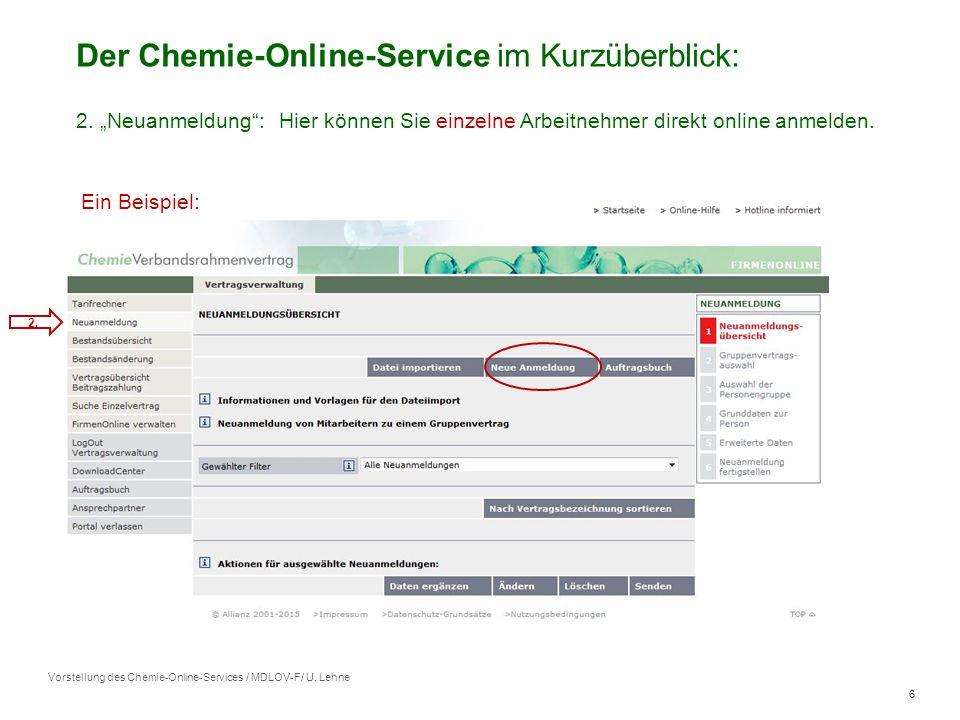 6 Vorstellung des Chemie-Online-Services / MDLOV-F/ U.