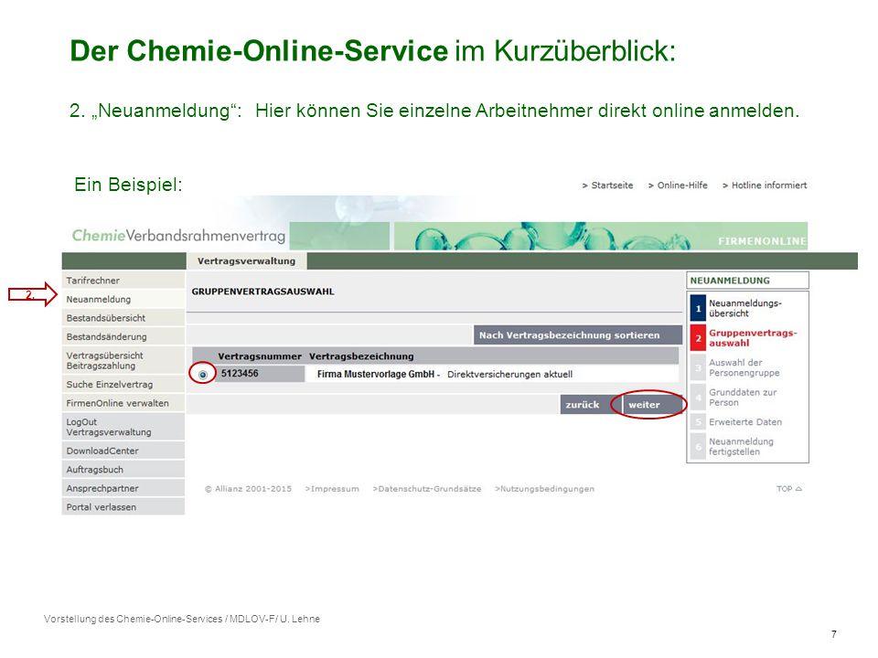 7 Vorstellung des Chemie-Online-Services / MDLOV-F/ U.