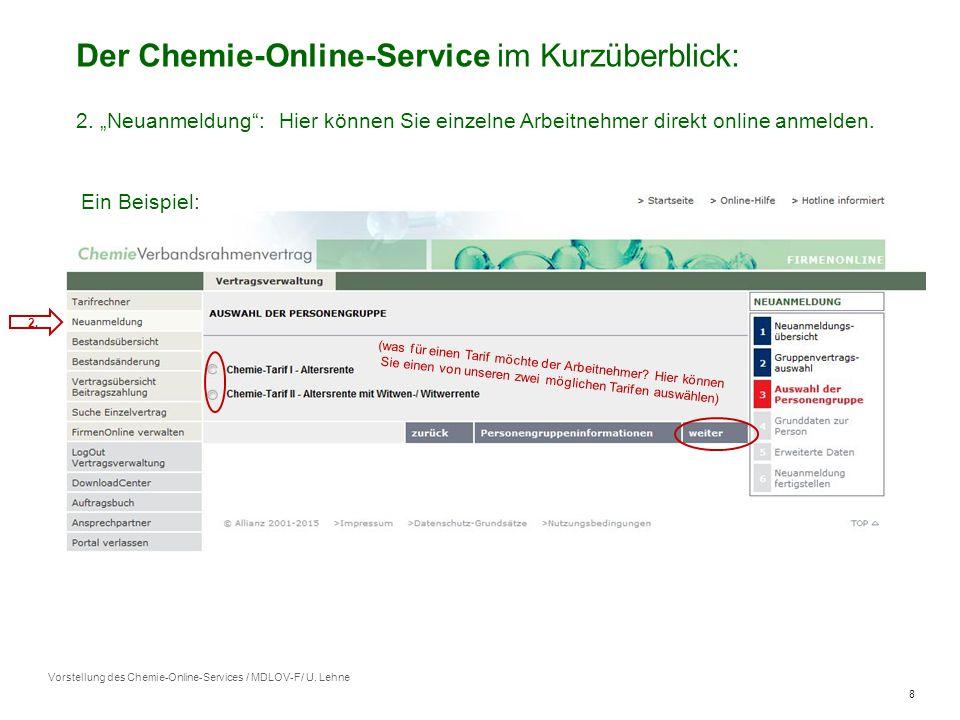 8 Vorstellung des Chemie-Online-Services / MDLOV-F/ U.