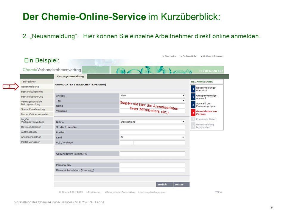 9 Vorstellung des Chemie-Online-Services / MDLOV-F/ U.