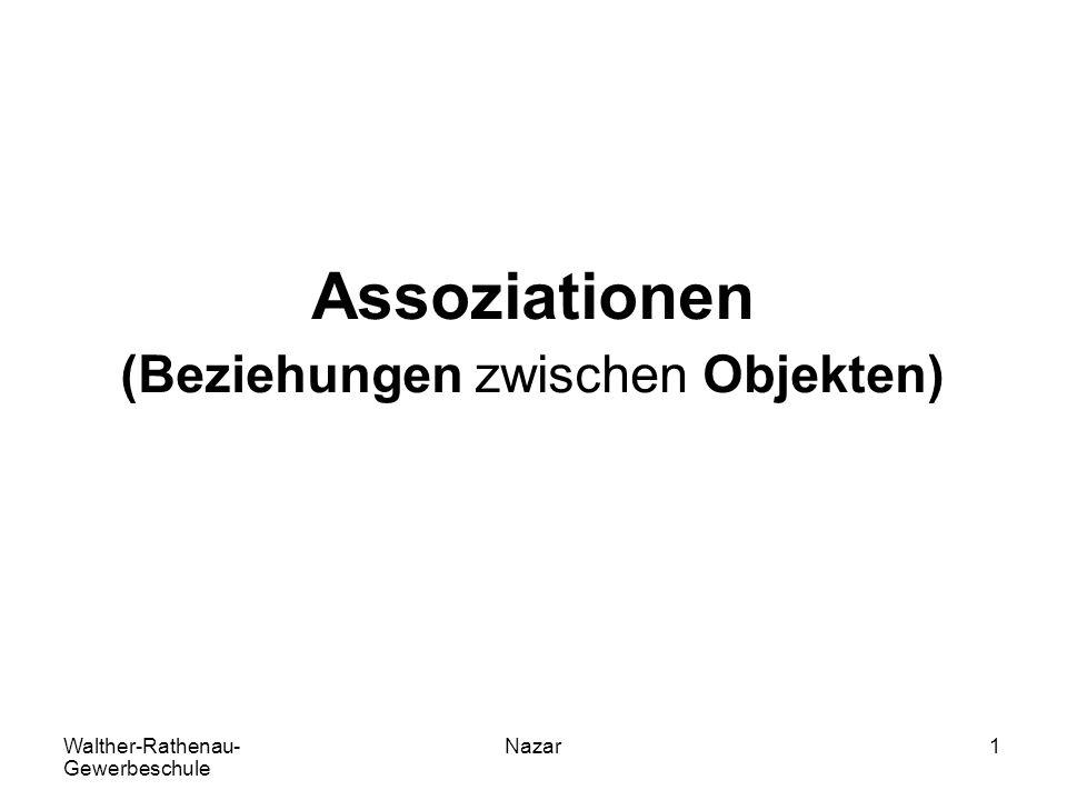 Walther-Rathenau- Gewerbeschule Nazar1 Assoziationen (Beziehungen zwischen Objekten)