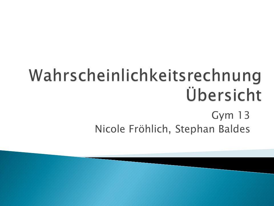 Gym 13 Nicole Fröhlich, Stephan Baldes