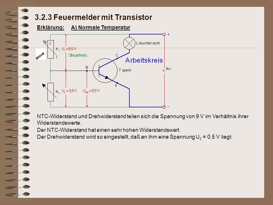 Erklärung: Der Drehwiderstand wird so eingestellt, daß an ihm eine Spannung U 2 = 0,5 V liegt.