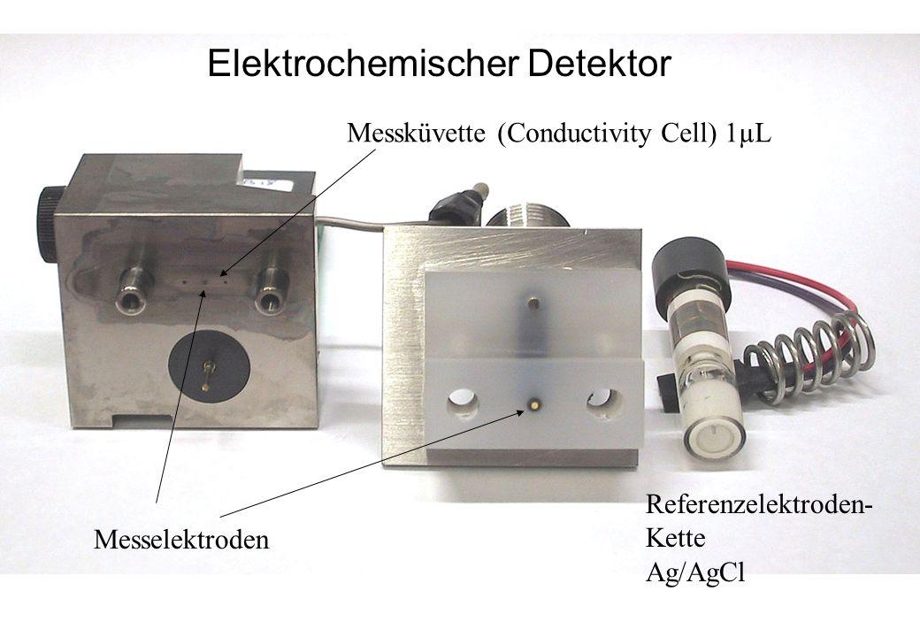 Elektrochemischer Detektor Referenzelektroden- Kette Ag/AgCl Messelektroden Messküvette (Conductivity Cell) 1µL