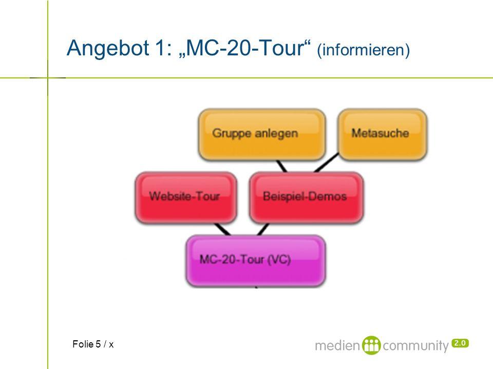 "Angebot 1: ""MC-20-Tour"" (informieren) Folie 5 / x"
