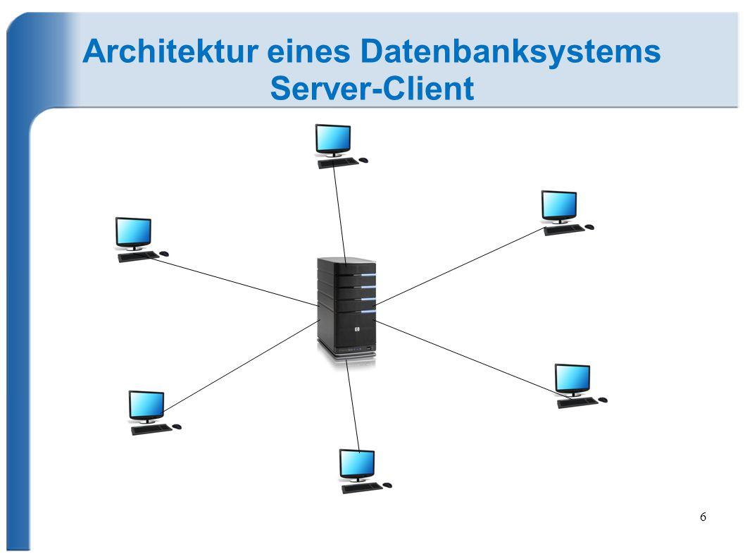 6 Architektur eines Datenbanksystems Server-Client