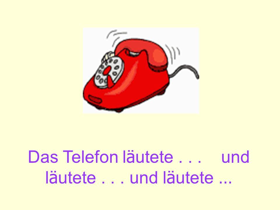 Das Telefon l ä utete... und l ä utete... und l ä utete …