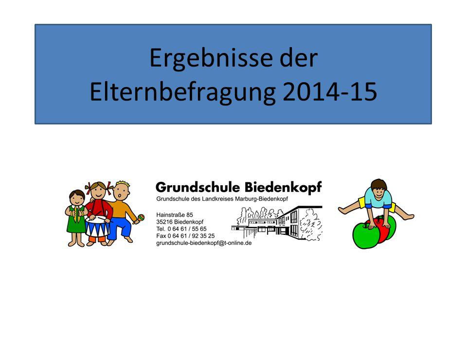 Die Befragung Im Herbst 2014 wurde im Rahmen der Schulkonferenz ein Fragebogen entwickelt.