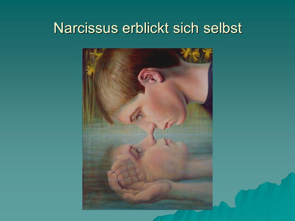 In der Erkenntnis seiner seelischen Notlage wendet sich Narcissus vom Diesseits ab; nur der Tod kann seine Verstrickung und sein Ausgeliefertsein lösen.