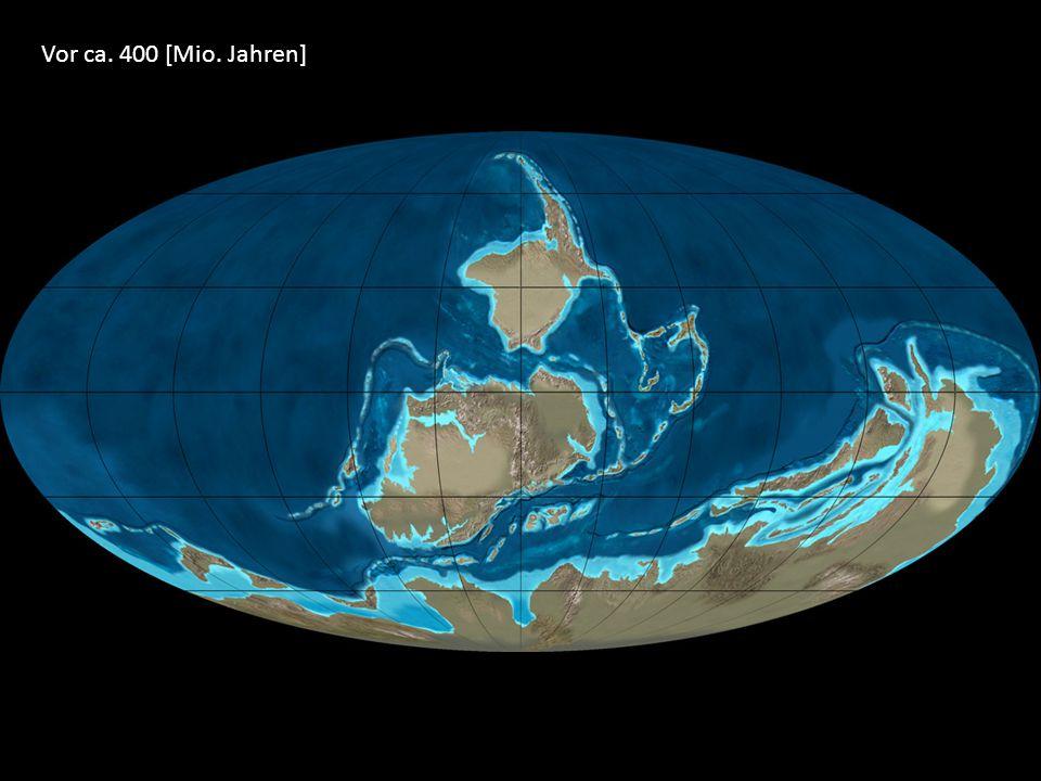 Vor ca. 400 [Mio. Jahren]