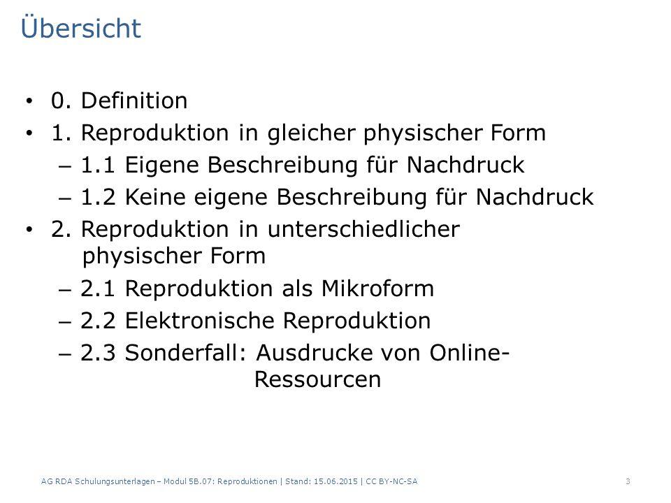 Übersicht 0. Definition 1.