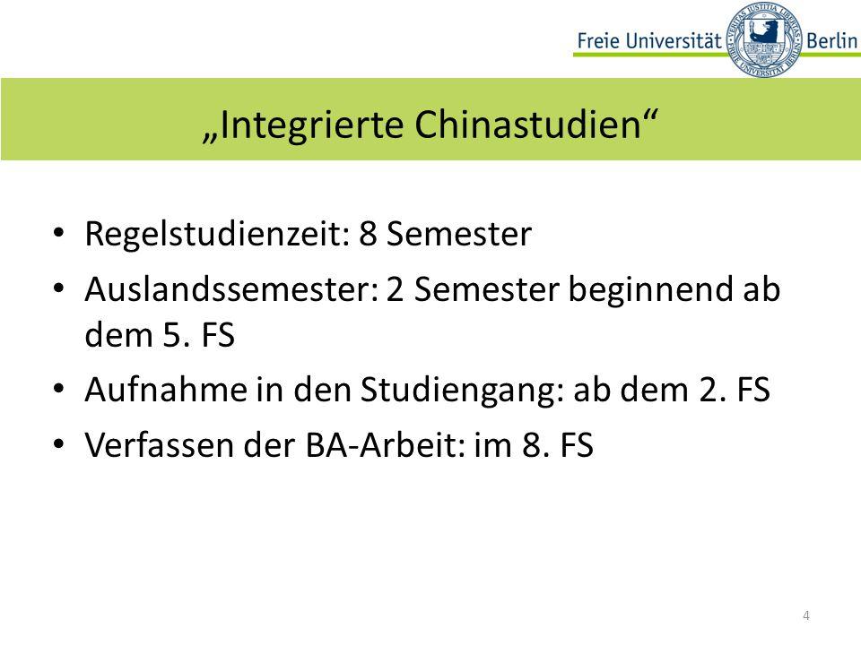 Regelstudienzeit: 8 Semester Auslandssemester: 2 Semester beginnend ab dem 5.