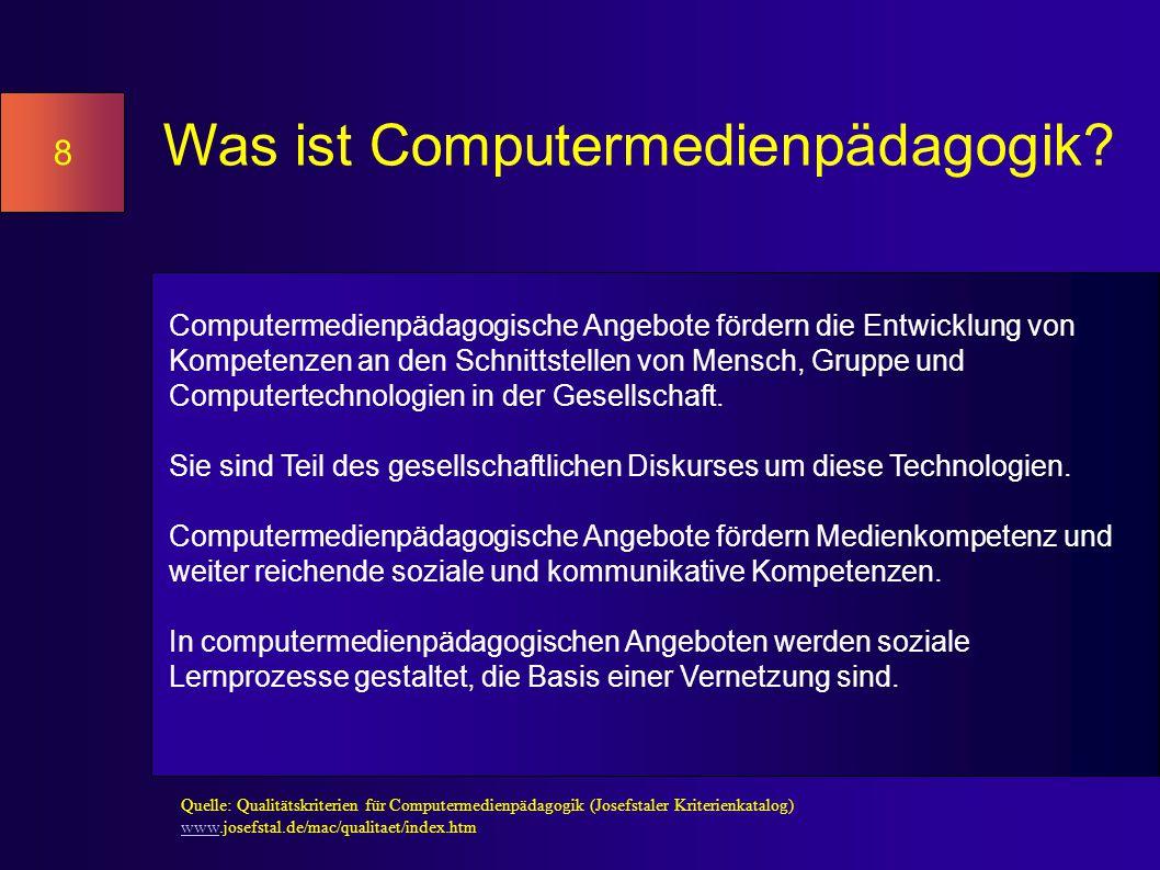 Was ist Computermedienpädagogik.
