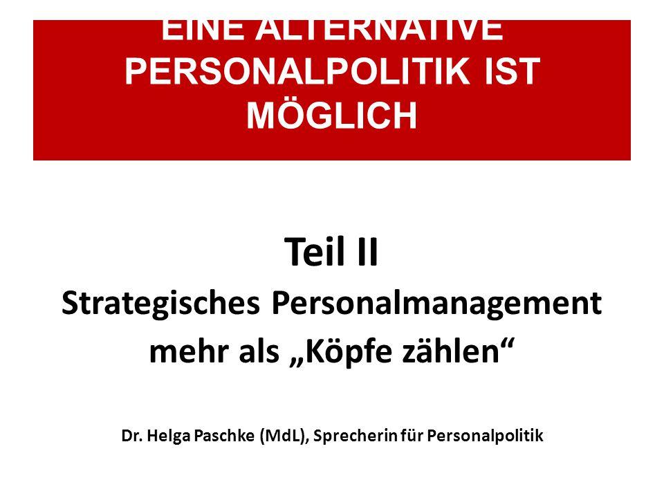 """Teil II Strategisches Personalmanagement mehr als """"Köpfe zählen Dr."""