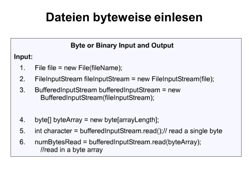 Dateien byteweise einlesen
