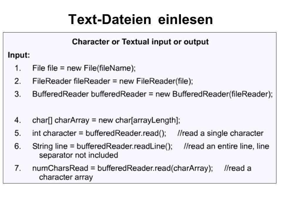 Text-Dateien einlesen