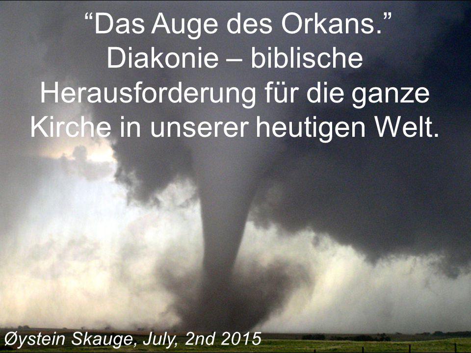 Das Auge des Orkans. Diakonie – biblische Herausforderung für die ganze Kirche in unserer heutigen Welt.