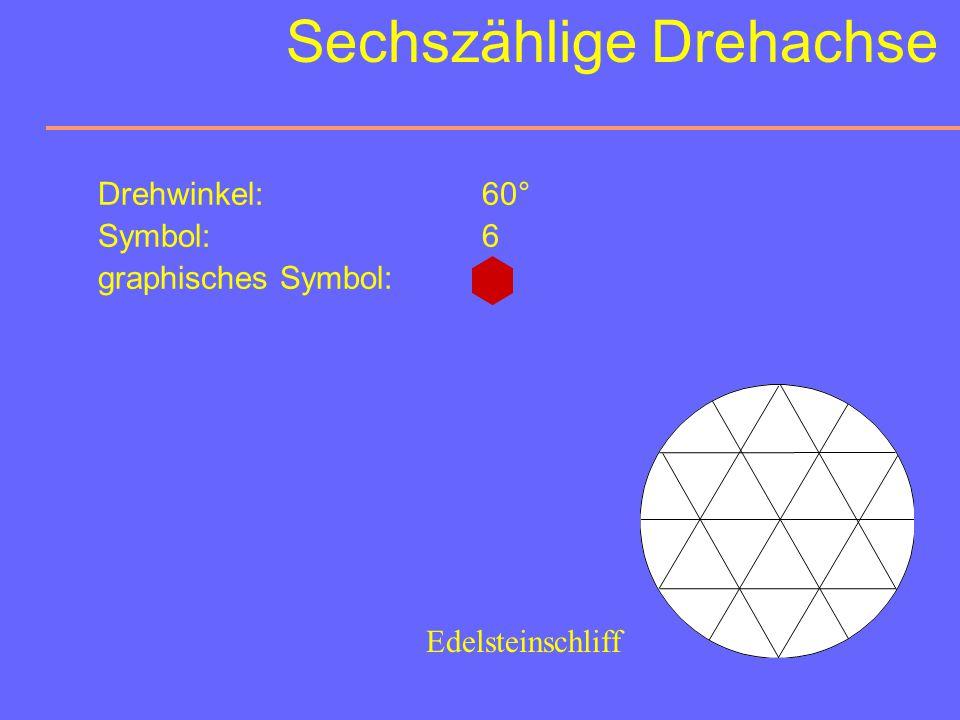 Vierzählige Drehachsen Orientierungsmöglichkeiten: 0-10 M (4 1 c ) = 100 0 01