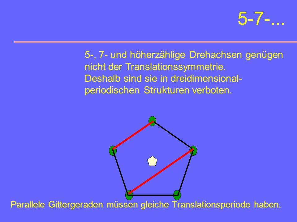 Sechszählige Drehachsen Orientierungsmöglichkeiten: