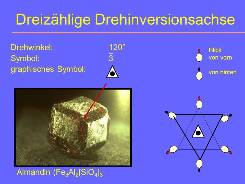 Spiegelebene Drehwinkel:180° Symbol:m = 2 graphisches Symbol: ¯ Afrikanischer Geist Muschel Almandin (kubisch)