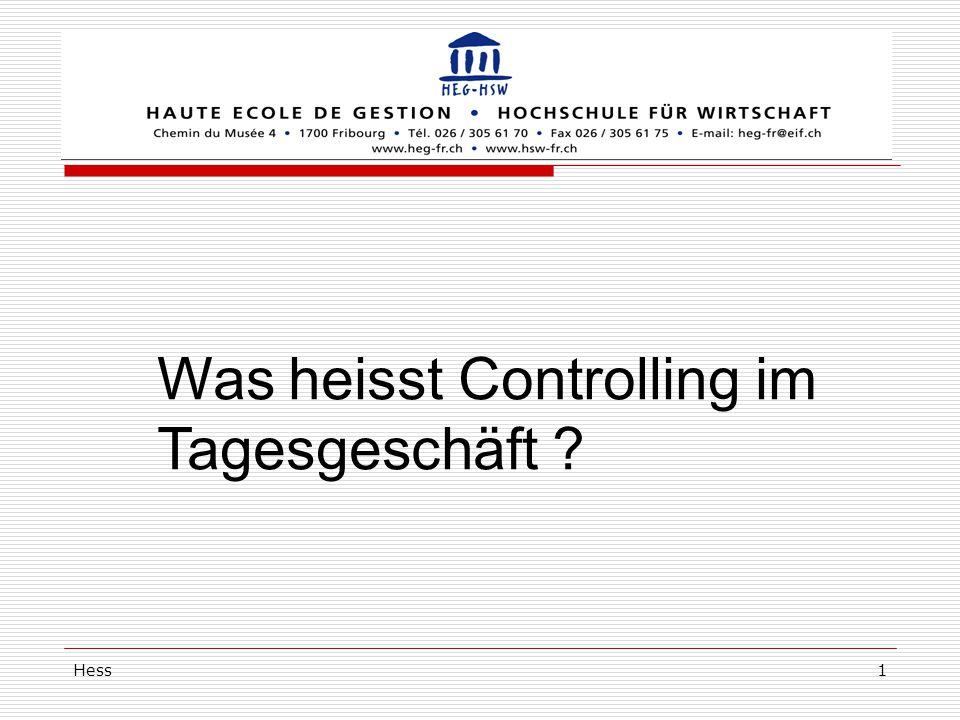 Hess1 Was heisst Controlling im Tagesgeschäft ?