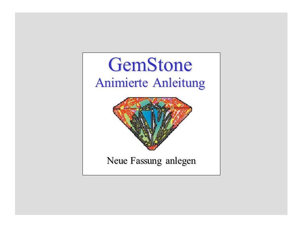 GemStone Animierte Anleitung Neue Fassung anlegen