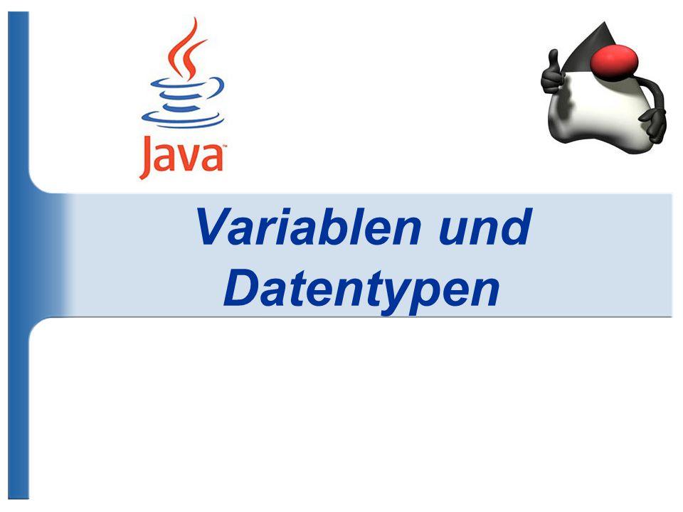 Variablen und Datentypen