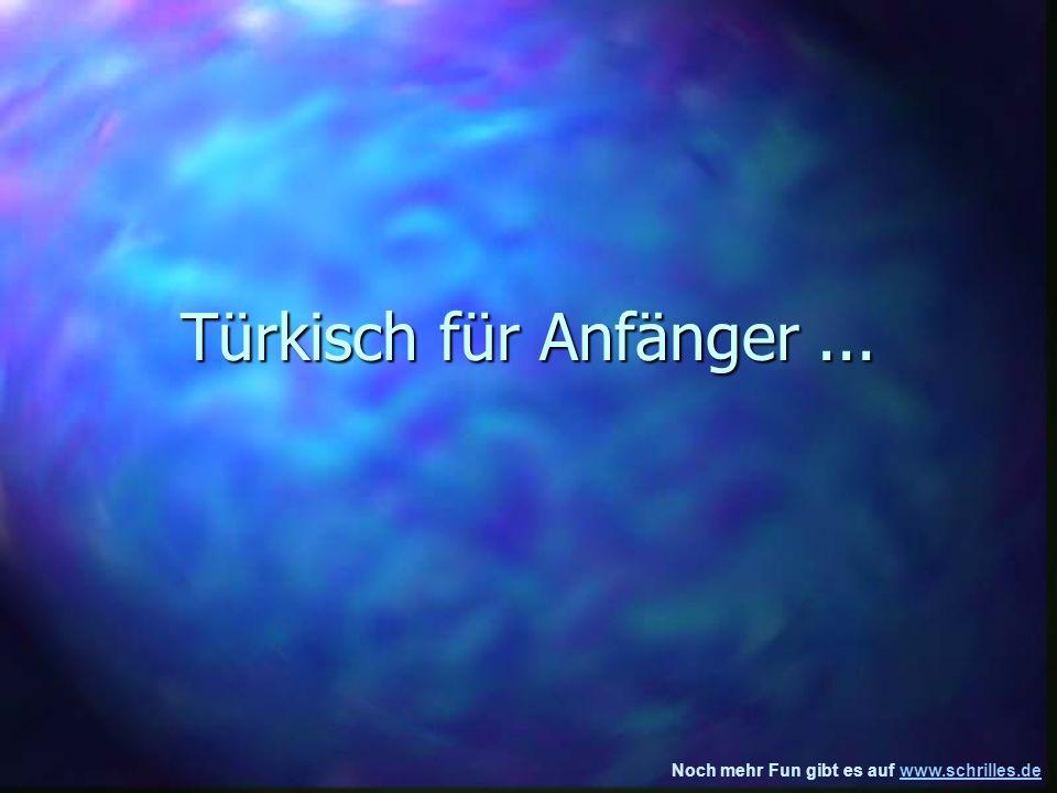 Noch mehr Fun gibt es auf www.schrilles.dewww.schrilles.de Türkisch für Anfänger...