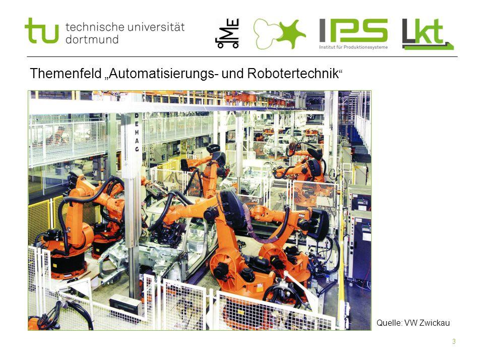 4 Inhalte der ART I (Fundamentals of Robotics)  Es werden folgende Themen behandelt:  Was sind die Merkmale eines Automatisierungssystems.