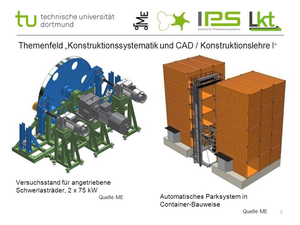 """6 Themenfeld """"Konstruktionssystematik und CAD / Konstruktionslehre I """" Versuchsstand für angetriebene Schwerlasträder, 2 x 75 kW Quelle: ME Automatisc"""