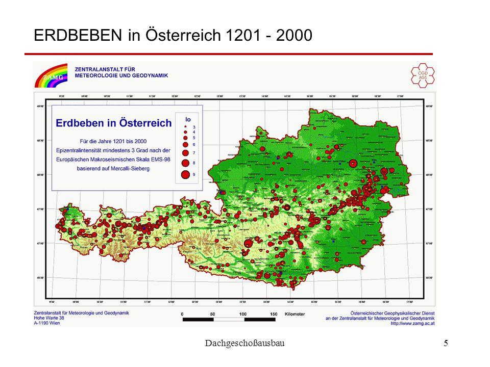 Dachgeschoßausbau5 ERDBEBEN in Österreich 1201 - 2000