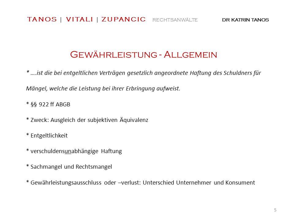 Danke für Ihre Aufmerksamkeit!! TANOS   VITALI   ZUPANCIC RECHTSANWÄLTE DR KATRIN TANOS 16