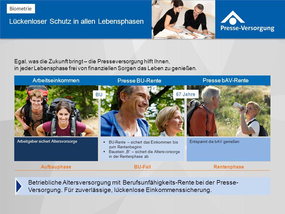 Betriebliche Altersversorgung mit Berufsunfähigkeits-Rente bei der Presse- Versorgung.