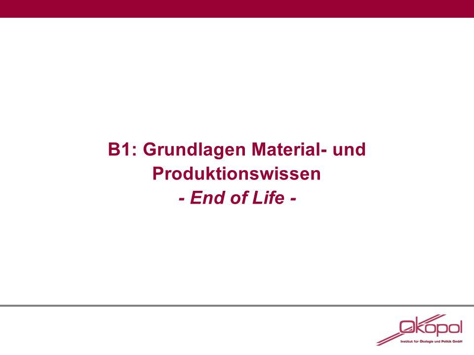 B1: Grundlagen Material- und Produktionswissen - End of Life -