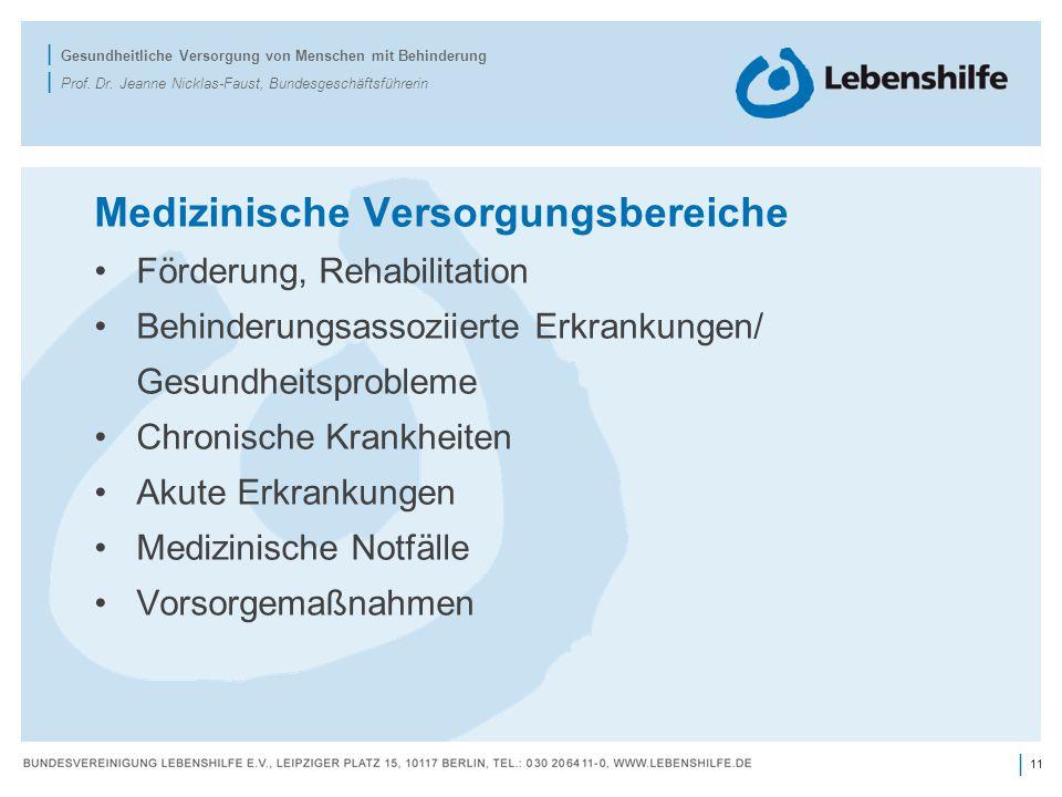 11 | | Gesundheitliche Versorgung von Menschen mit Behinderung | Prof.