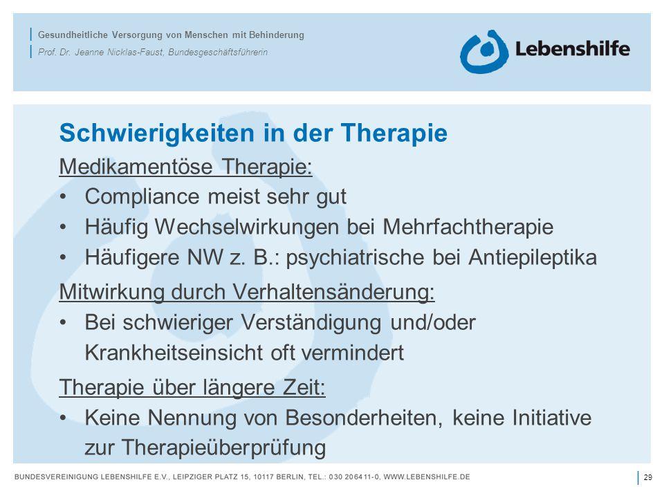 29 | | Gesundheitliche Versorgung von Menschen mit Behinderung | Prof.