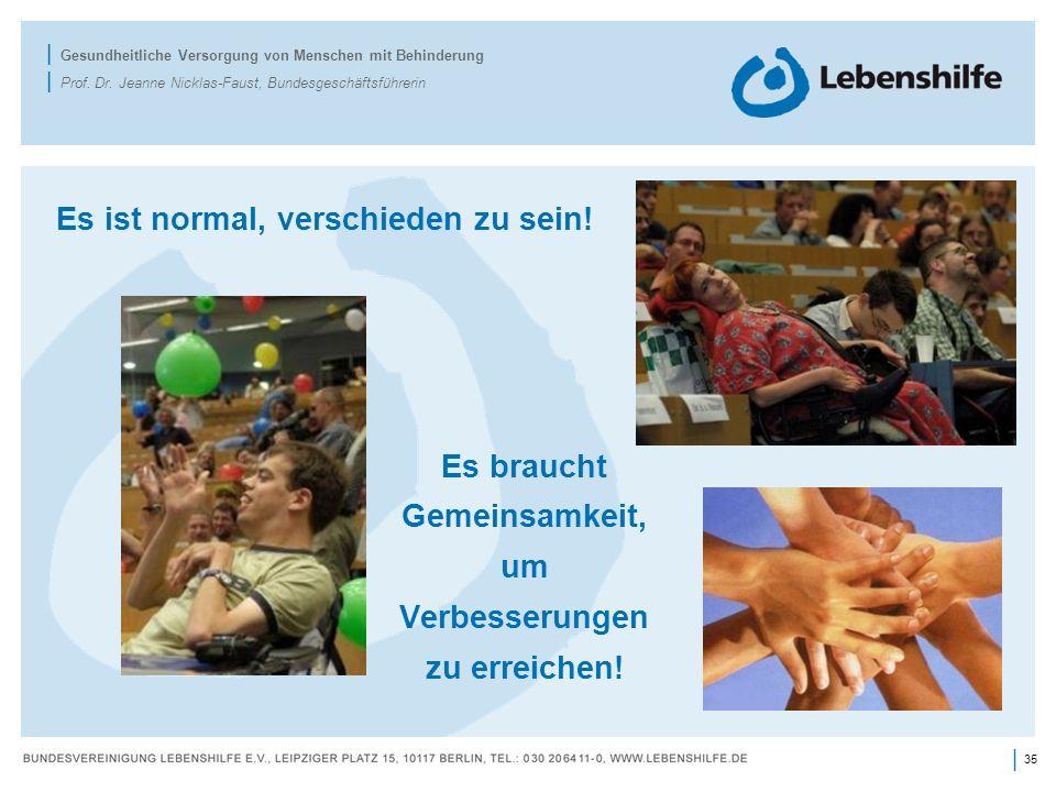 35 | | Gesundheitliche Versorgung von Menschen mit Behinderung | Prof.
