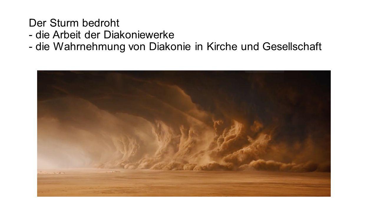 Der Sturm bedroht - die Arbeit der Diakoniewerke - die Wahrnehmung von Diakonie in Kirche und Gesellschaft