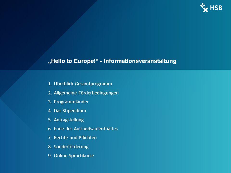 International Office - Ilka Knippel ©HSB 3 3 ERASMUS + Laufzeit: 2014 – 2020/21 Budget: 14,77 Mrd.