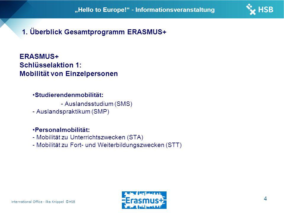 "International Office - Ilka Knippel ©HSB 15 ""Hello to Europe! - Informationsveranstaltung 9."
