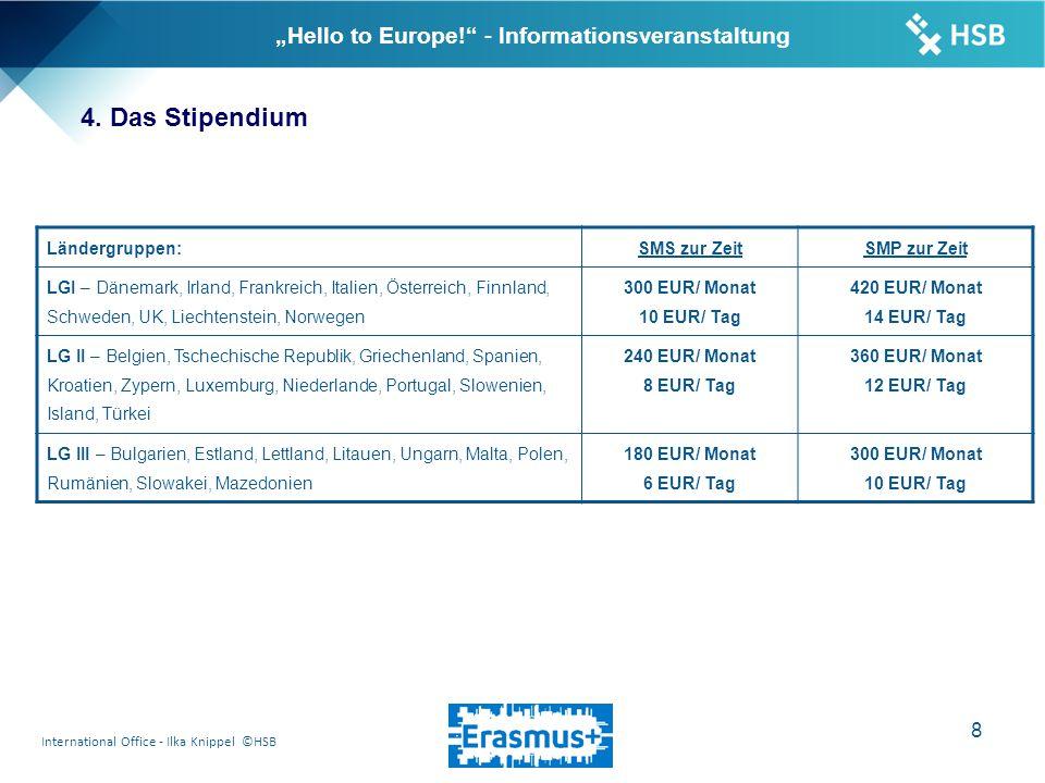 "International Office - Ilka Knippel ©HSB 9 ""Hello to Europe! - Informationsveranstaltung 4."