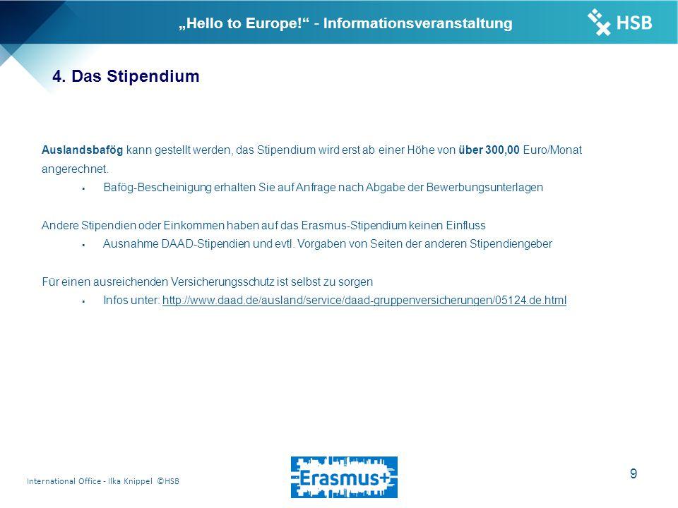 "International Office - Ilka Knippel ©HSB 10 ""Hello to Europe! - Informationsveranstaltung 5."