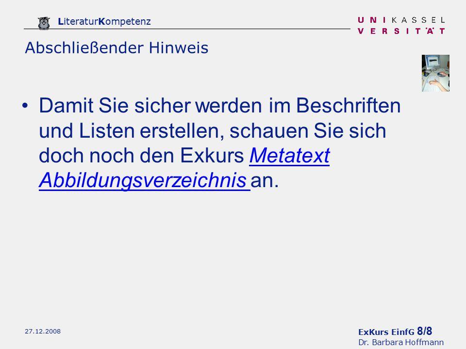 ExKurs EinfG 8/8 Dr.
