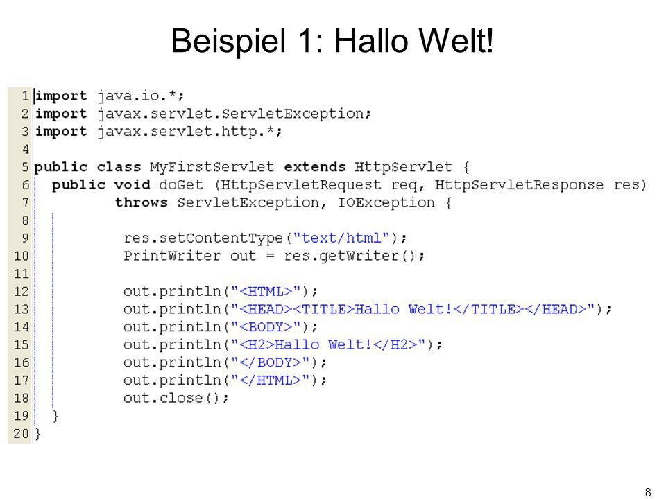 19 Beispiel 2: Begrüßung mit Namen Dieser Parameter speichert die aktuelle id des Benutzers, um ihn wieder zu erkennen.