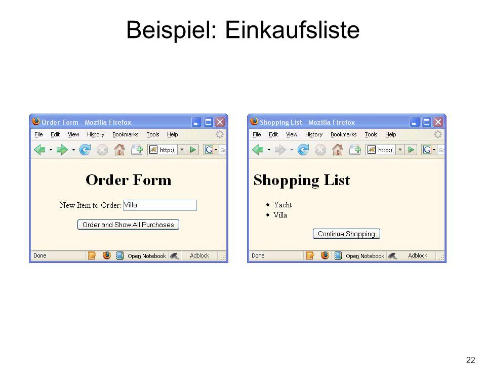 22 Beispiel: Einkaufsliste