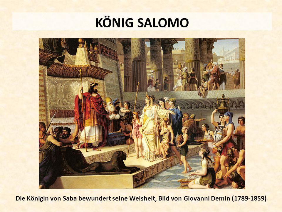 KÖNIG SALOMO Die Königin von Saba bewundert seine Weisheit, Bild von Giovanni Demin (1789-1859)