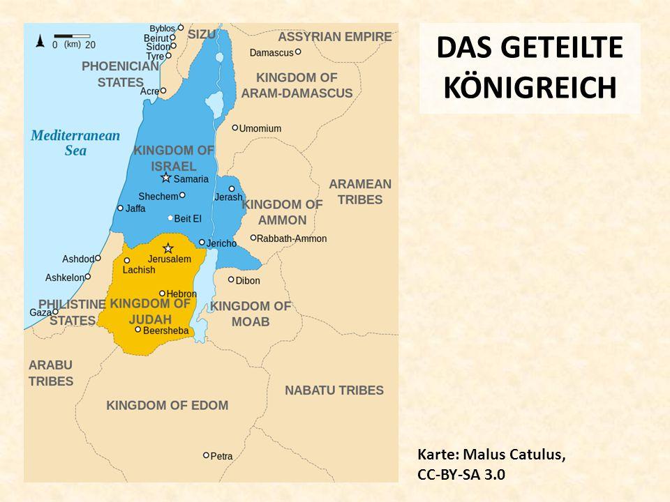 DAS GETEILTE KÖNIGREICH Karte: Malus Catulus, CC-BY-SA 3.0