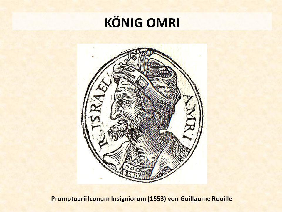 KÖNIG OMRI Promptuarii Iconum Insigniorum (1553) von Guillaume Rouillé